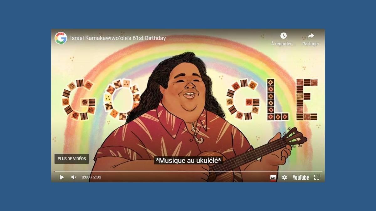 Doodle Israel Kamakawiwo'ole Over The Rainbow