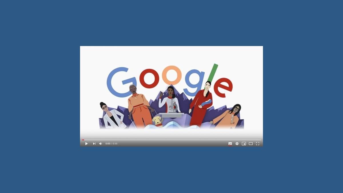 Doodle Google journée internationale des droits des femmes 2020