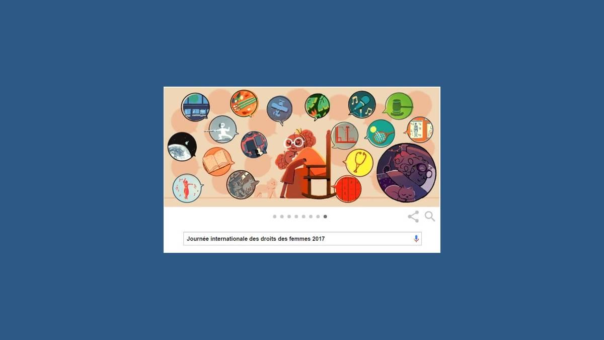 Doodle Google journée internationale des droits des femmes