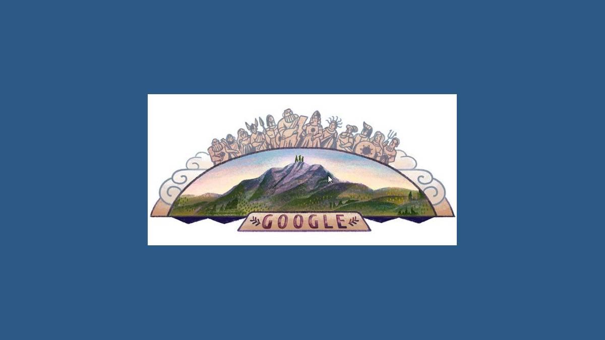 Doodle célébration du Mont Olympe - Mount Olympus