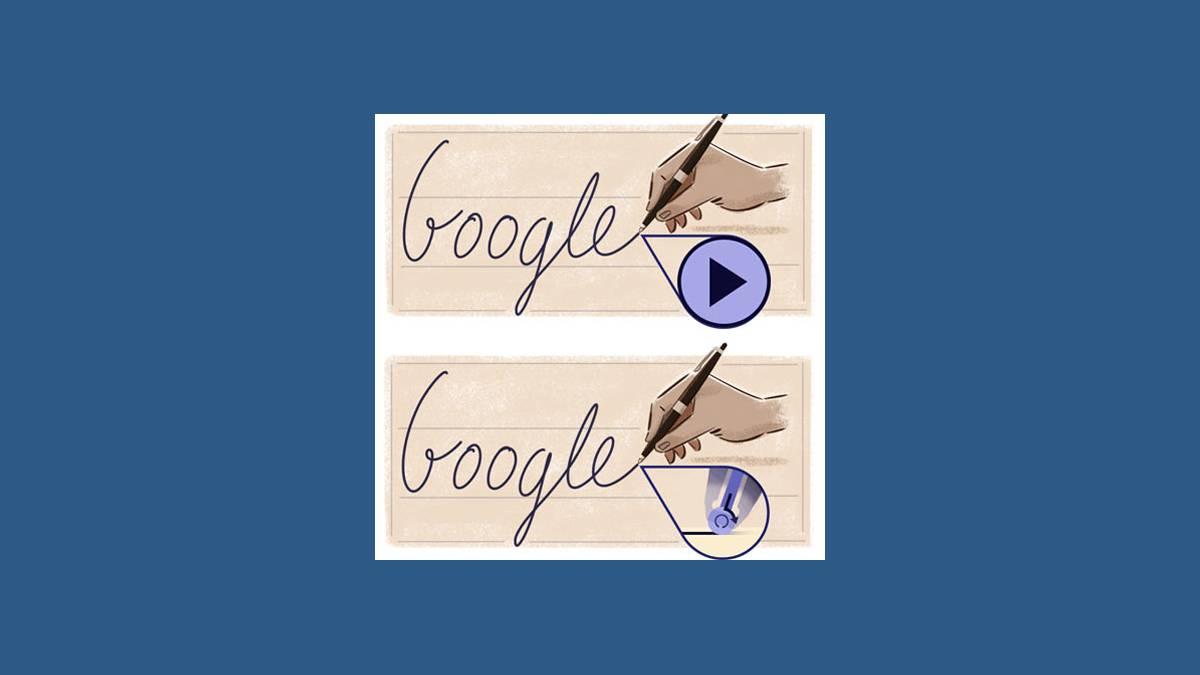 Doodle stylo à bille sur Google