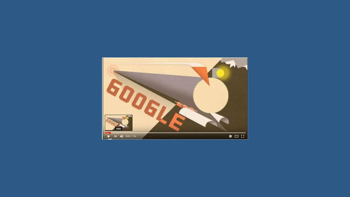 Doodle Google 100e anniversaire Transsibérien