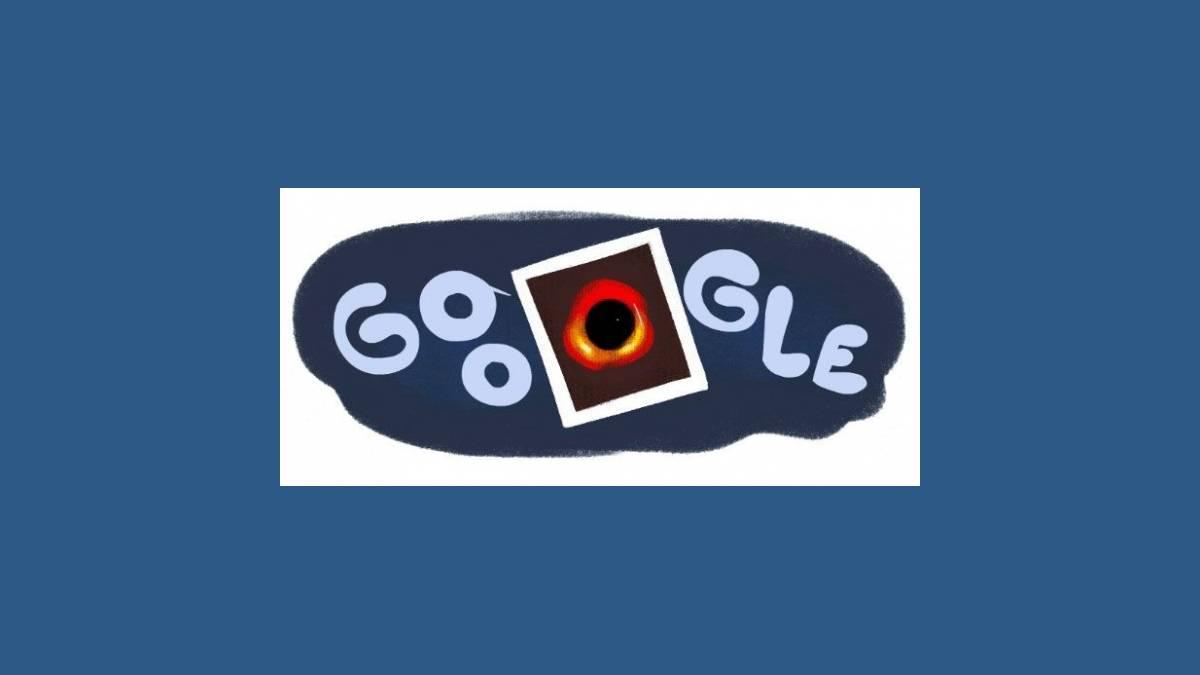 Doodle Google Première image d'un trou noir