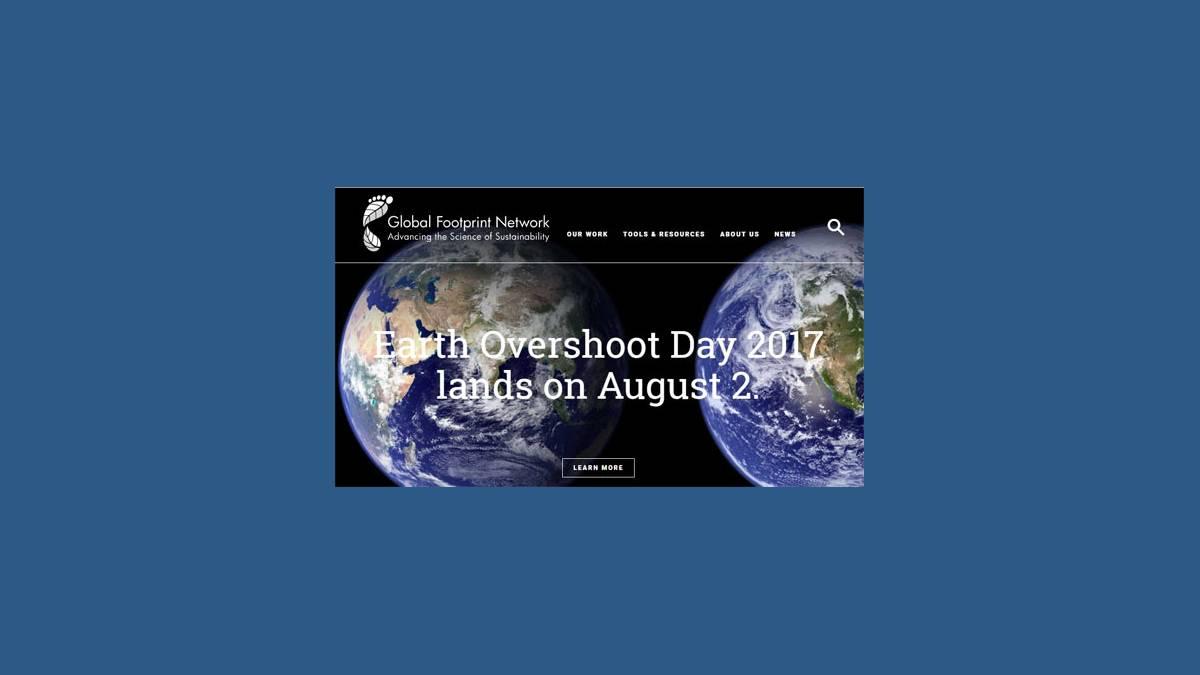 Earth overshoot day capture Footprintnetwork.org