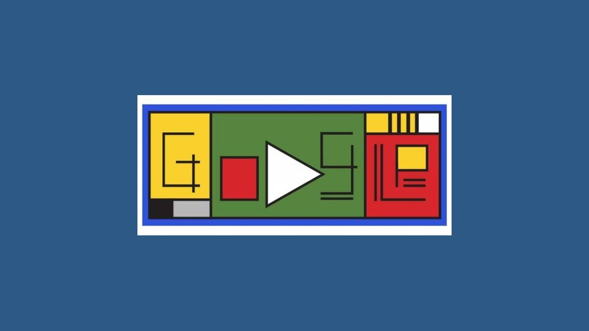 Doodle Google 100e anniversaire de l'école Bauhaus