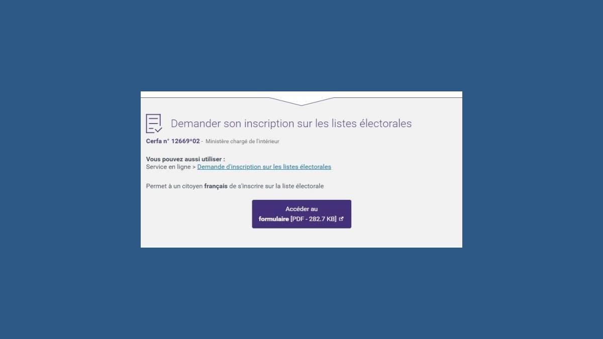 Élections municipales 2020 formulaire inscription
