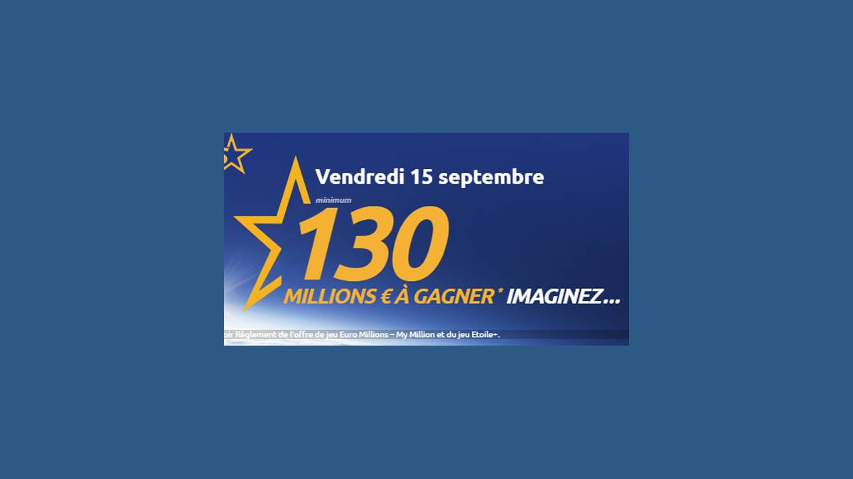 Jackpot EuroMillions My Million vendredi 15 septembre