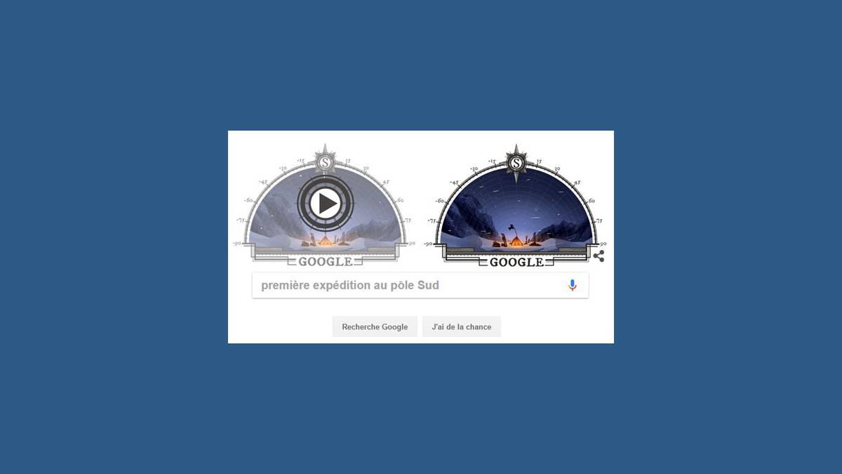 Doodle première expédition au pôle Sud