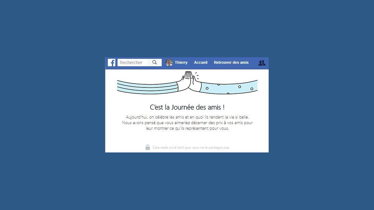 Capture la journée des amis Facebook #FriendsDay