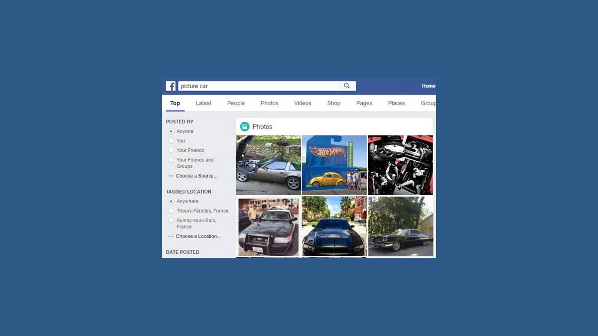 Facebook recherche d'image de voitures (AI)