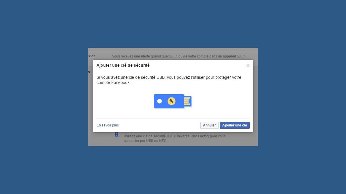 Facebook authentification USB U2F