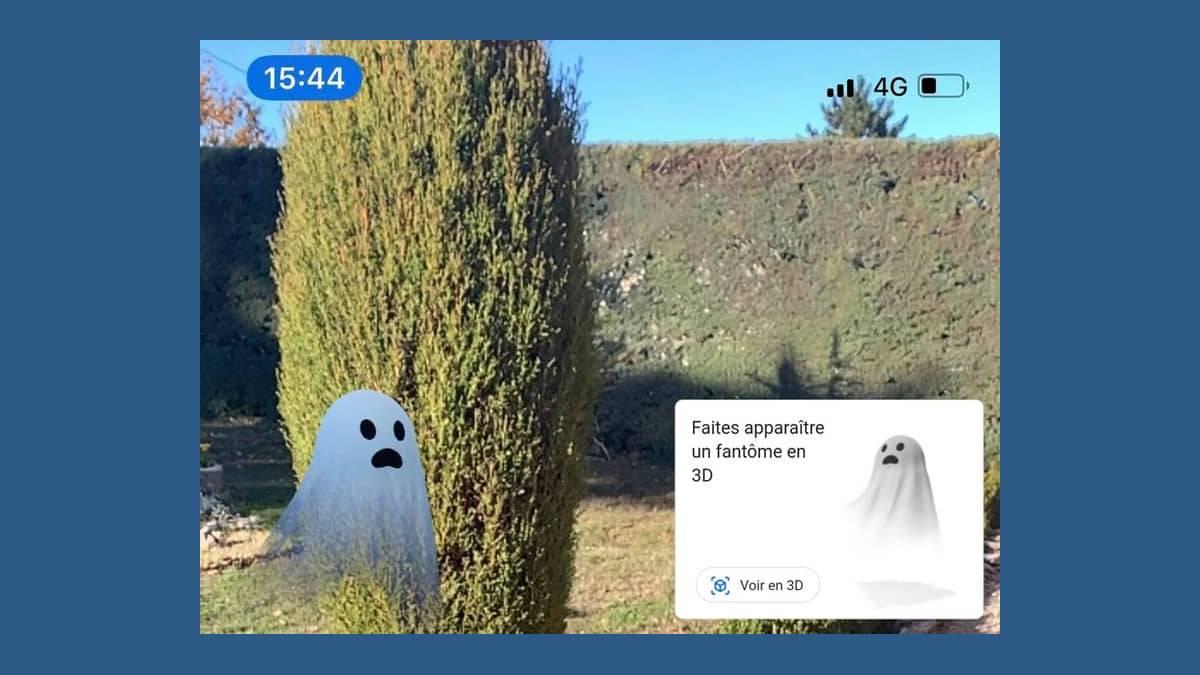 Fantôme Google en réalité augmentée sur iPhone