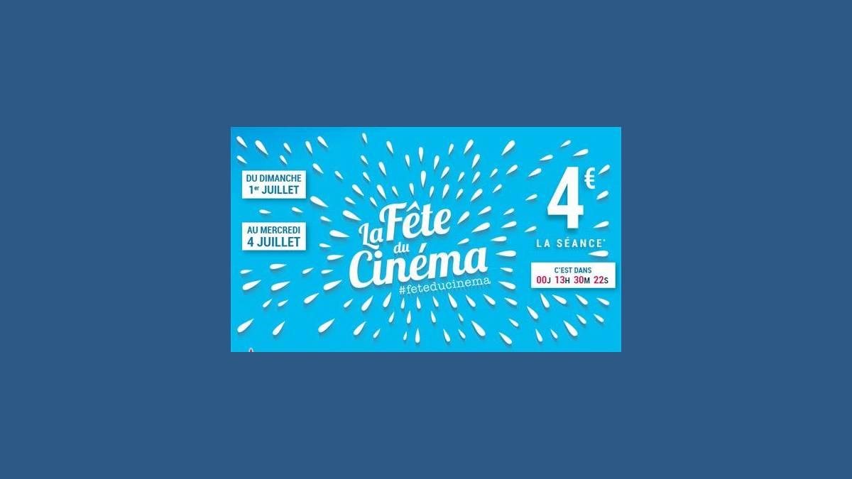 Des séances à 4 euros dès dimanche — Fête du Cinéma
