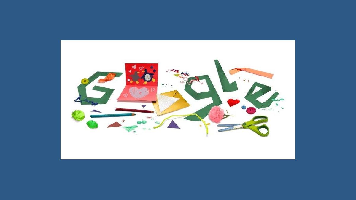 Doodle carte de fête des Pères virtuelle