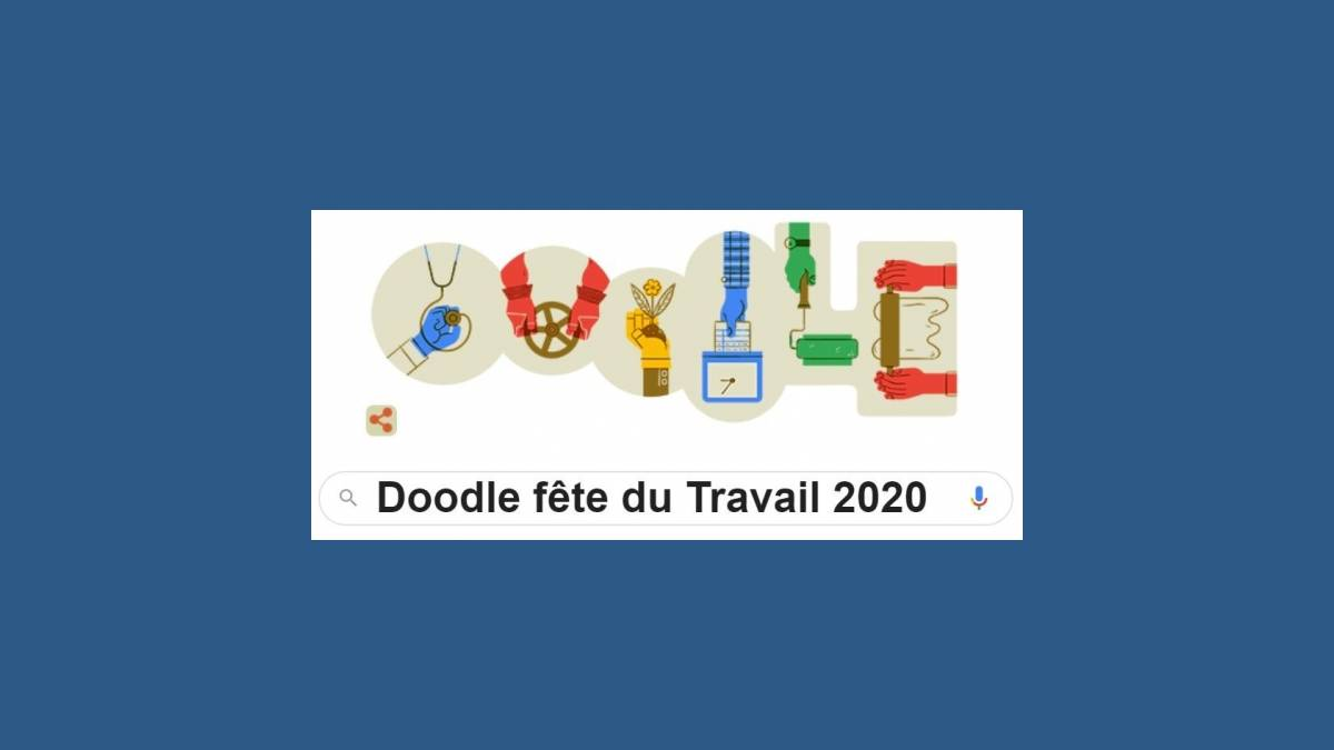Doodle fête du Travail 2020 sur Google