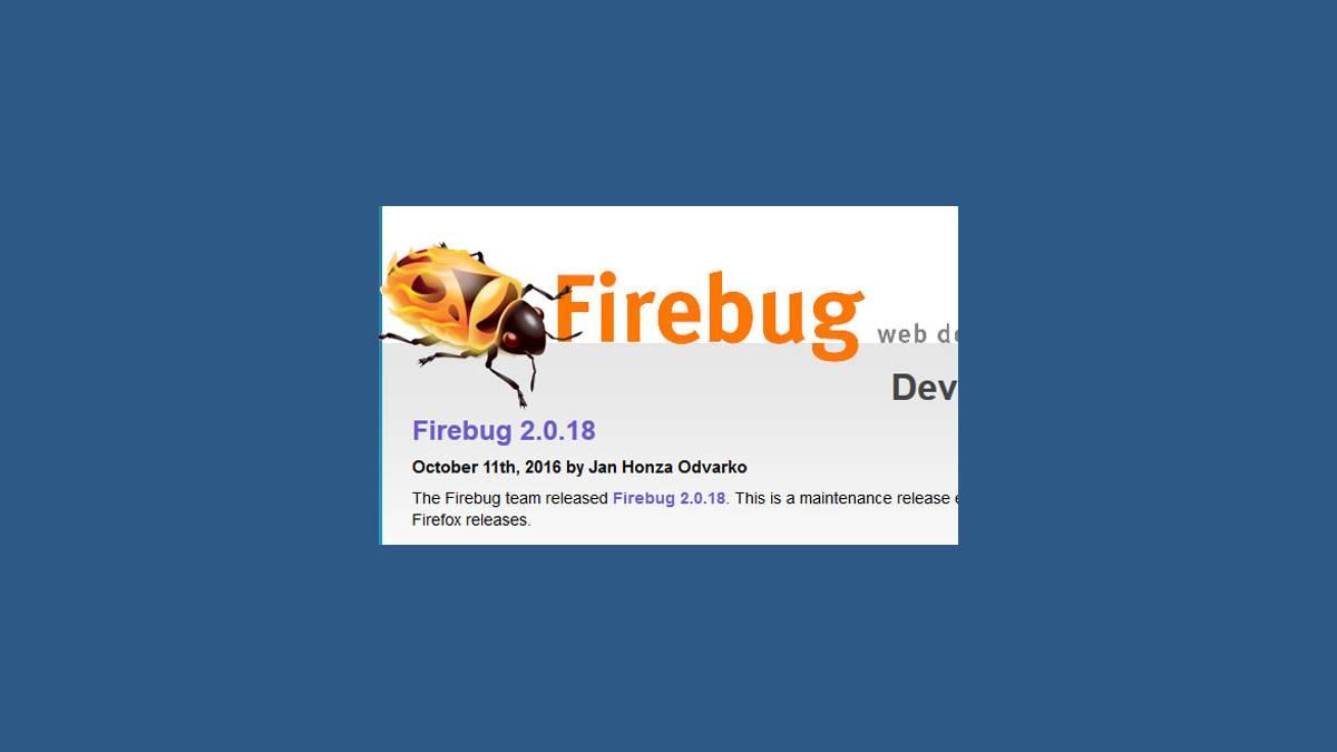 Firebug 2.0.18 sur Firefox 50