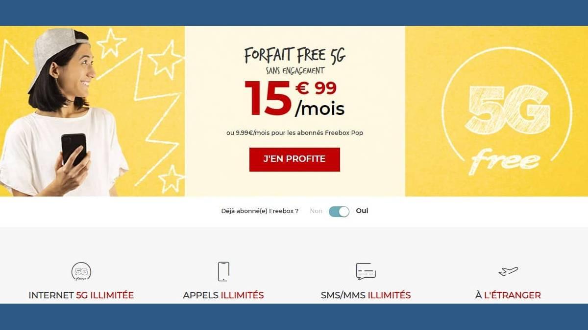 Les forfaits 5G de Free Mobile