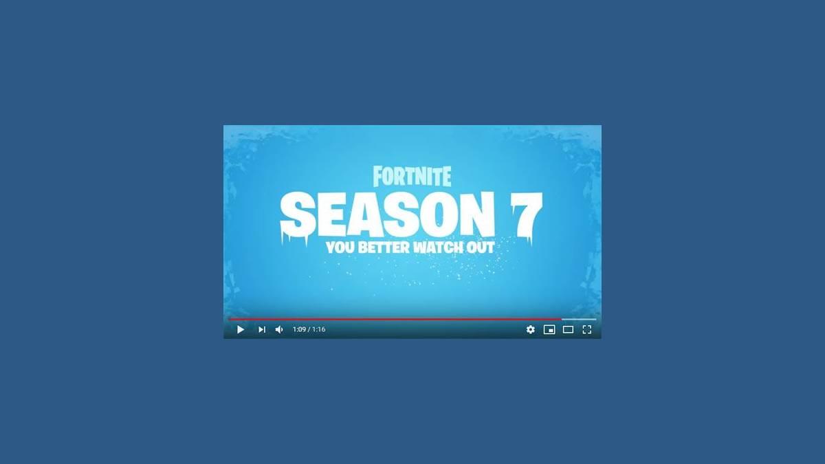 Fortnite Saison 7 - Fête de Noël, iceberg et neige