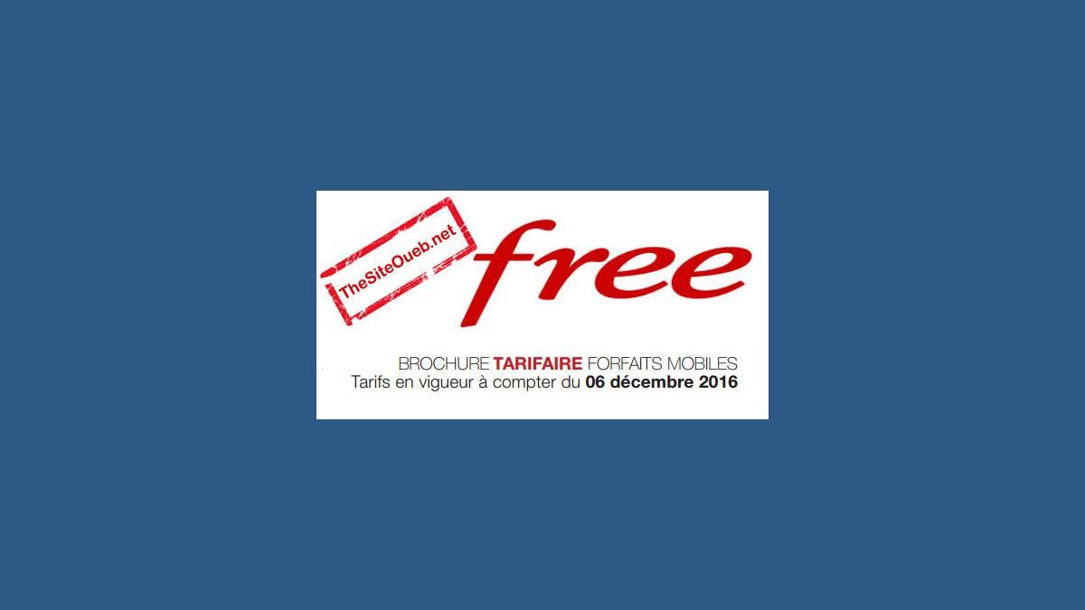 Second bridage Free Mobile 1er janvier 2017