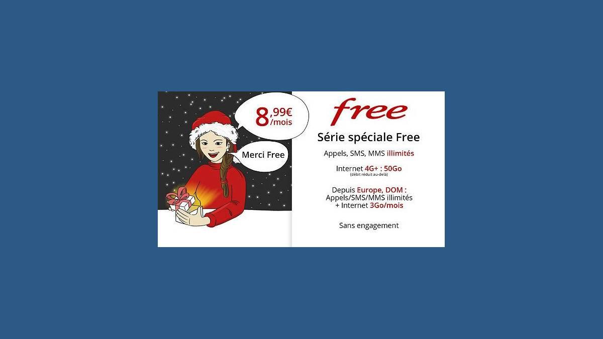 Free Mobile forfait spécial à 8,99 € par mois à vie