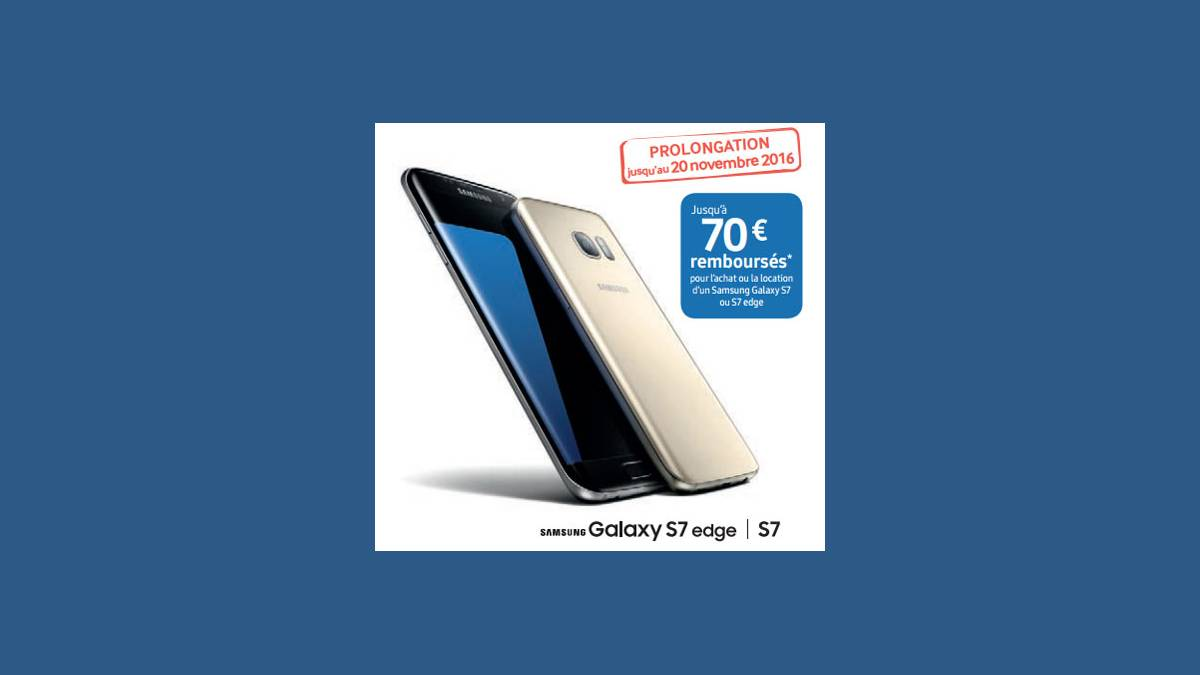 Offre -70 € Galaxy S7 et S7 Edge Free Mobile