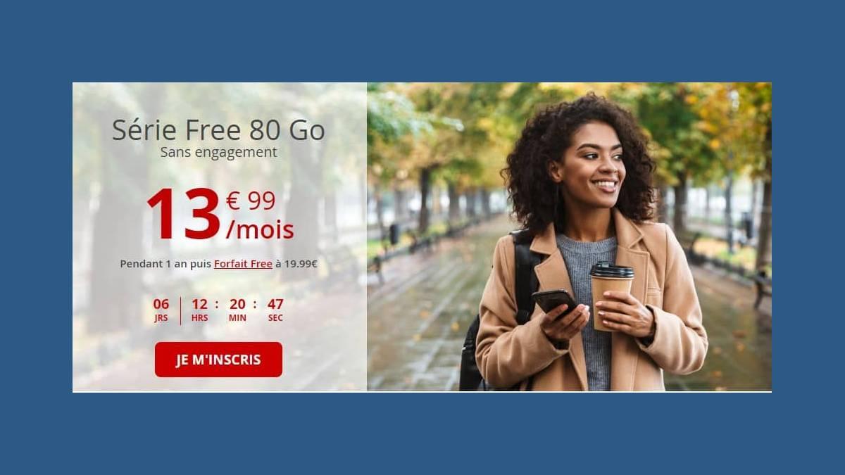Forfait Série Free 80 Go à 13,99 €