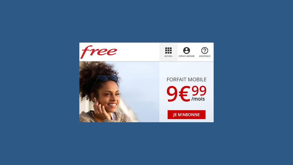 Forfait Free Mobile Réunion 9,99 euros