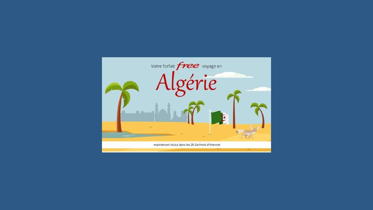 Roaming 25Go depuis l'Algérie avec Free mobile