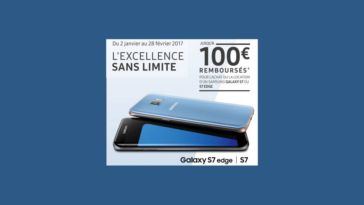 Offre -100 € Galaxy S7 et S7 Edge Free Mobile