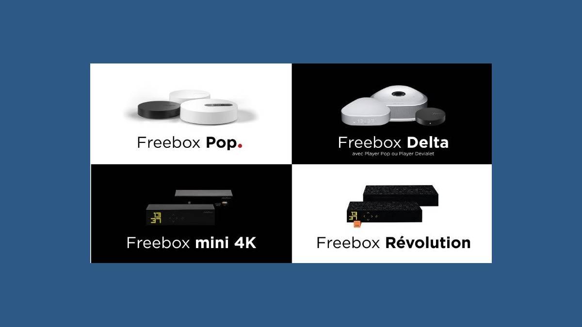 Les 4 Freebox de Free