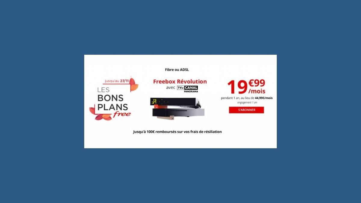 Freebox Revolution à 19,99 euros par mois (Free)