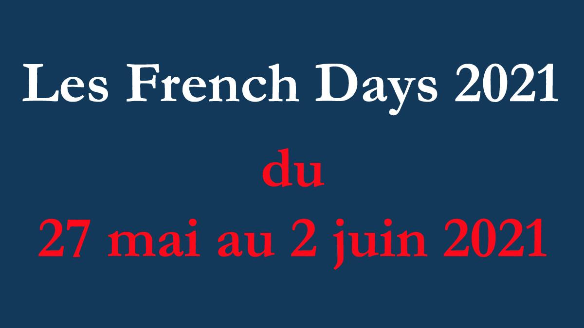 Les French Days 2021 du 27 mai au 2 juin