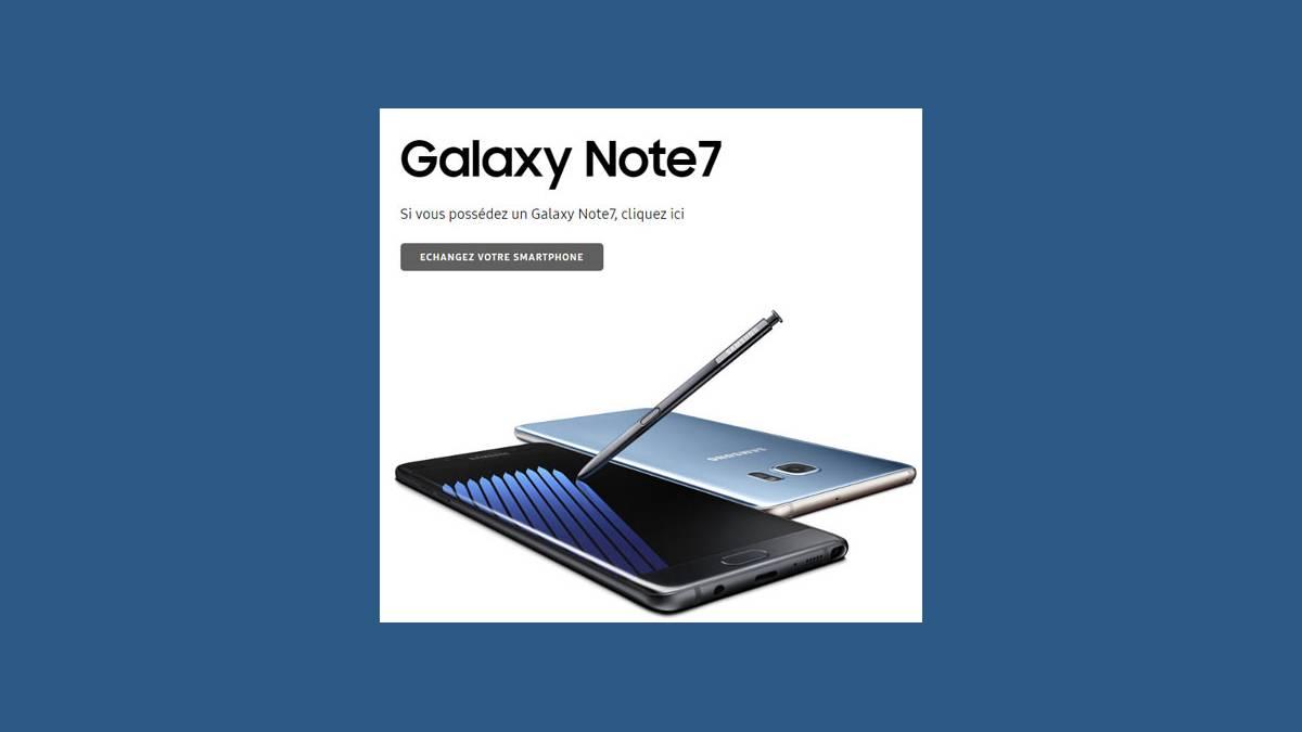 Programme d'échange Galaxy Note7
