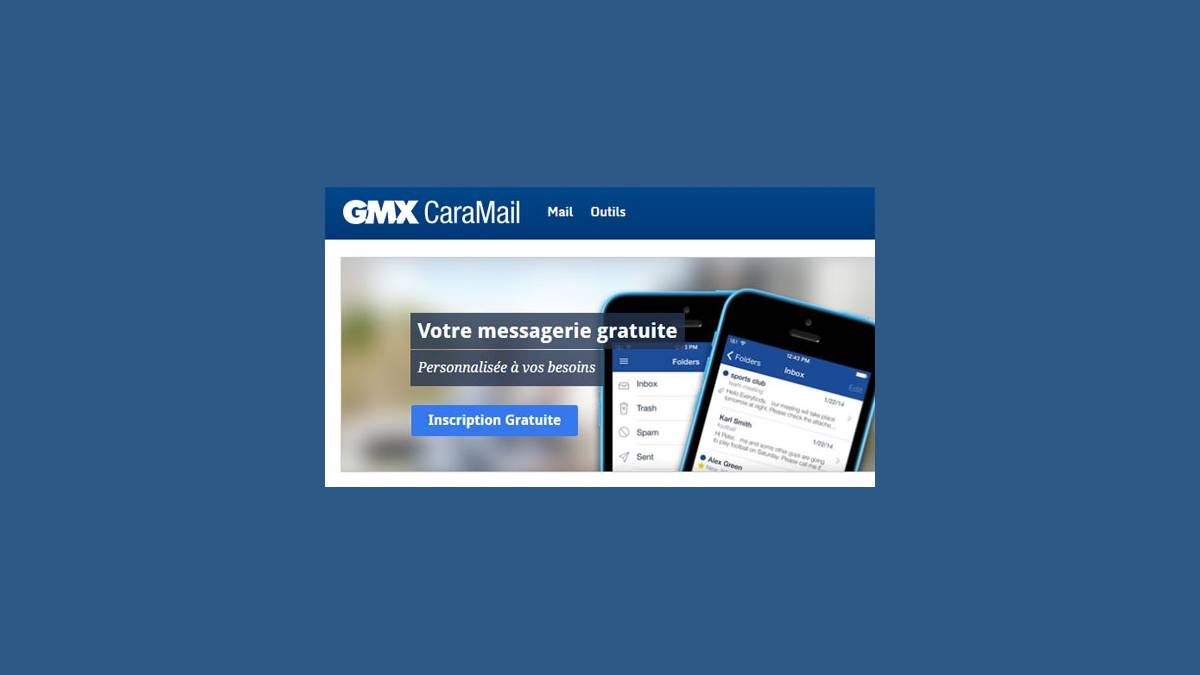 Messagerie GMX Caramail
