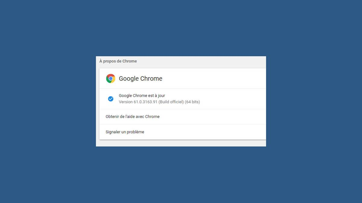 Google Chrome version 61