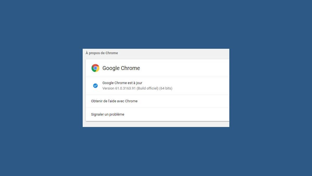 Google Chrome version 61