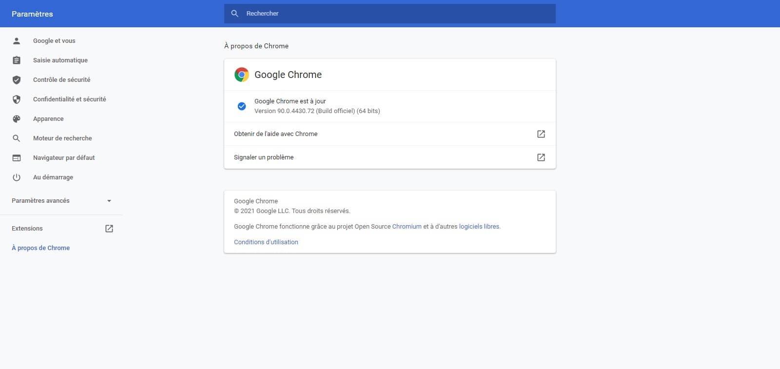 Google Chrome 90 et le protocole HTTPS