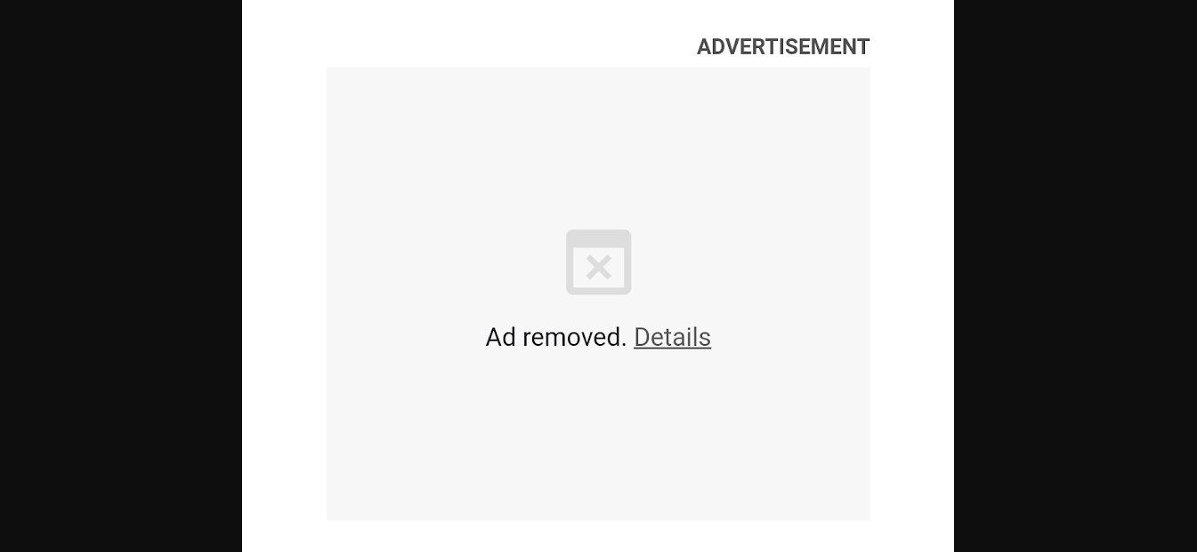Google Chrome - Ad removed