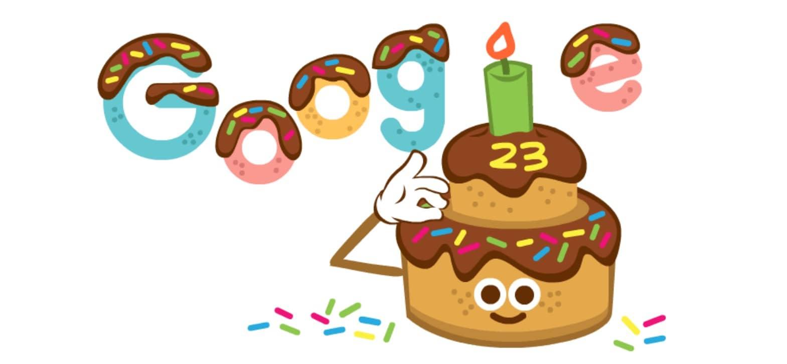 Anniversaire Doodle Google 23 ans