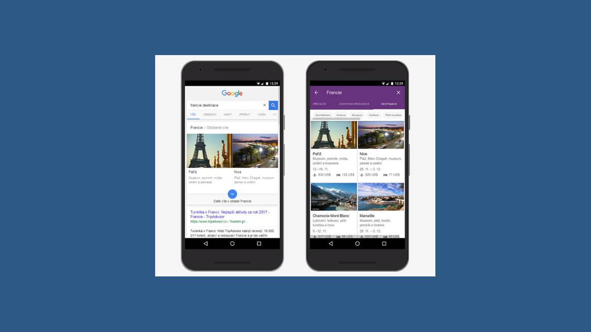 Capture mobile Google Trips