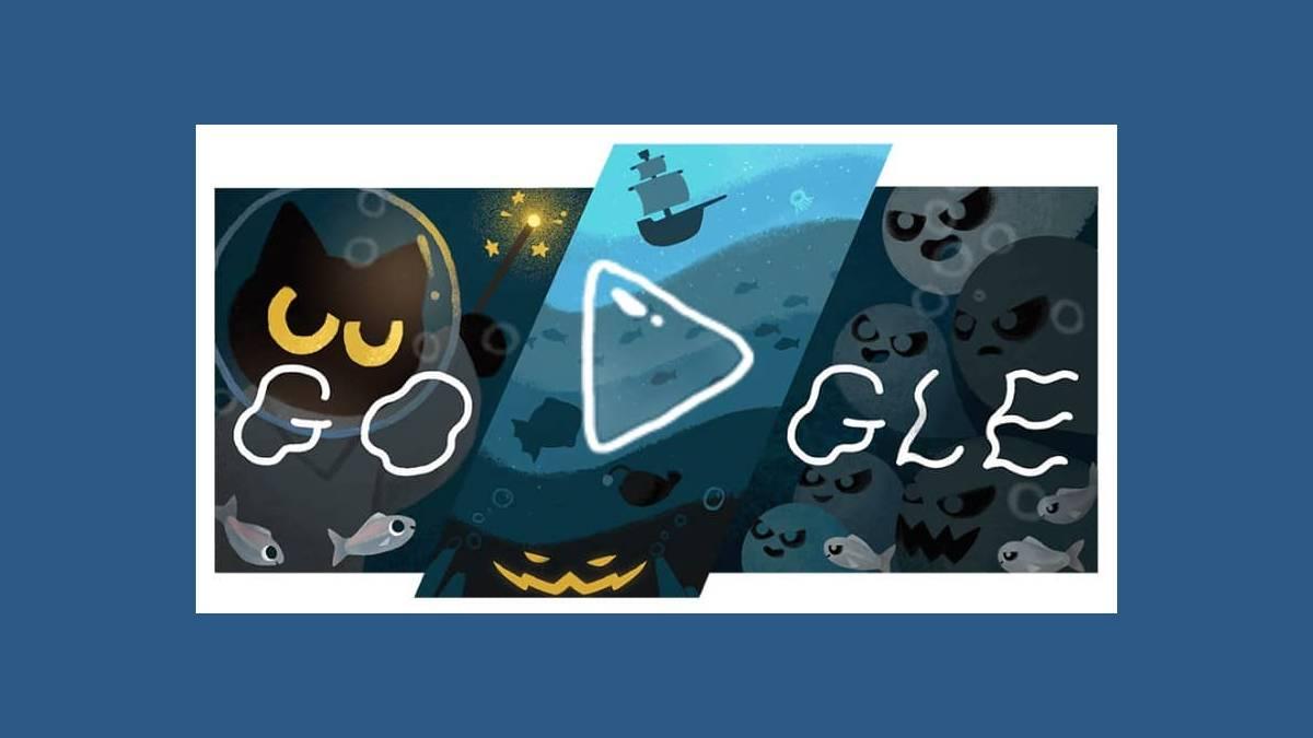 Joyeux Halloween avec Momo le chat sur Google