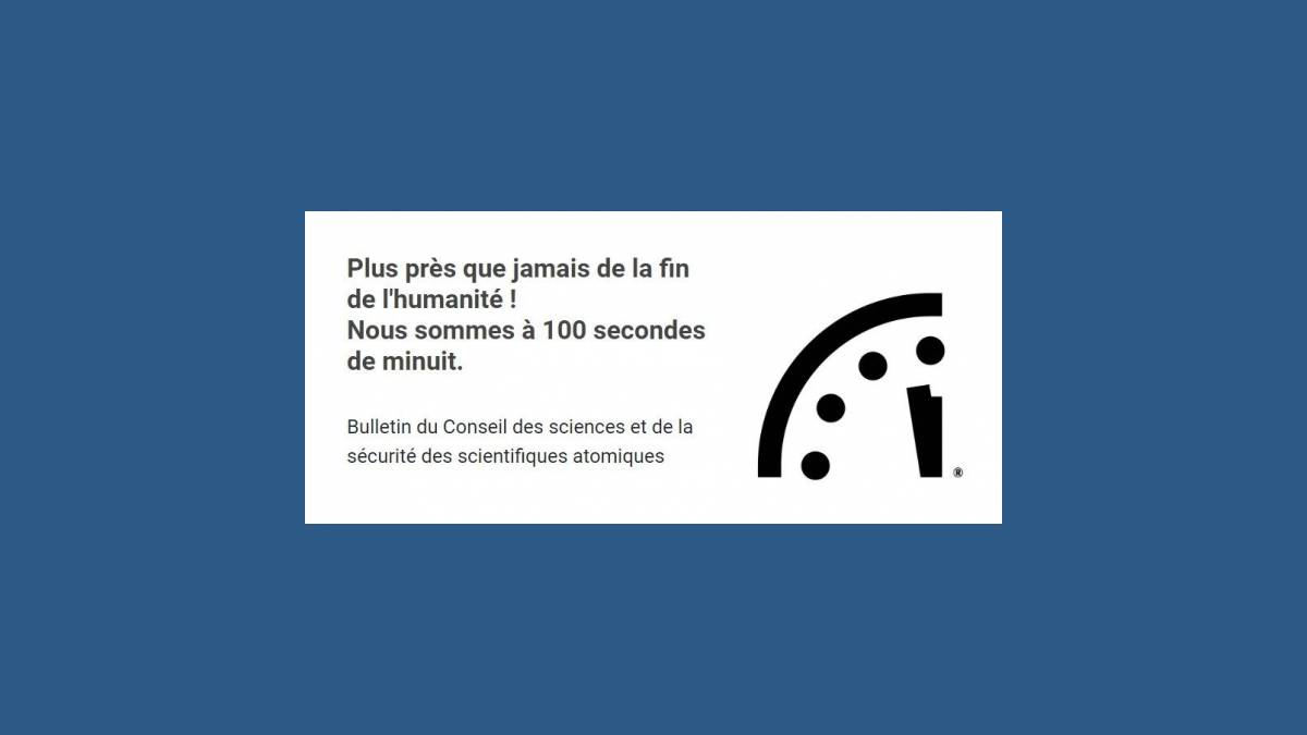 23h58mn20s Doomsday Clock - horloge de l'apocalypse
