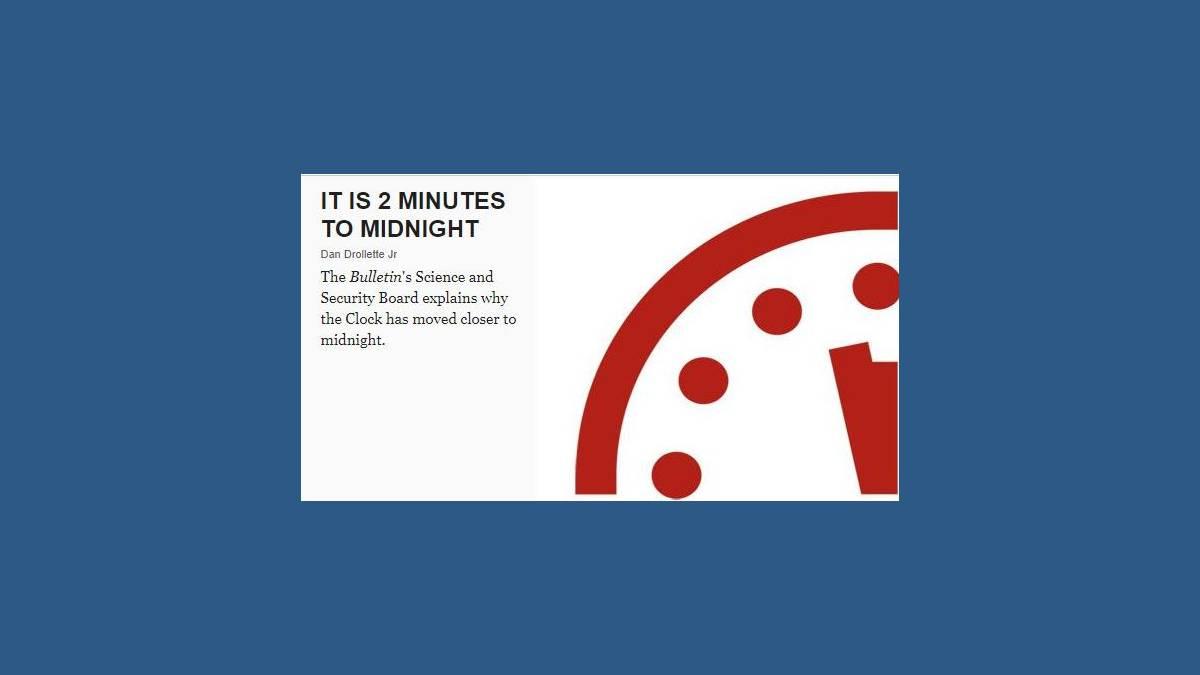 23h58 Doomsday Clock - horloge de l'apocalypse