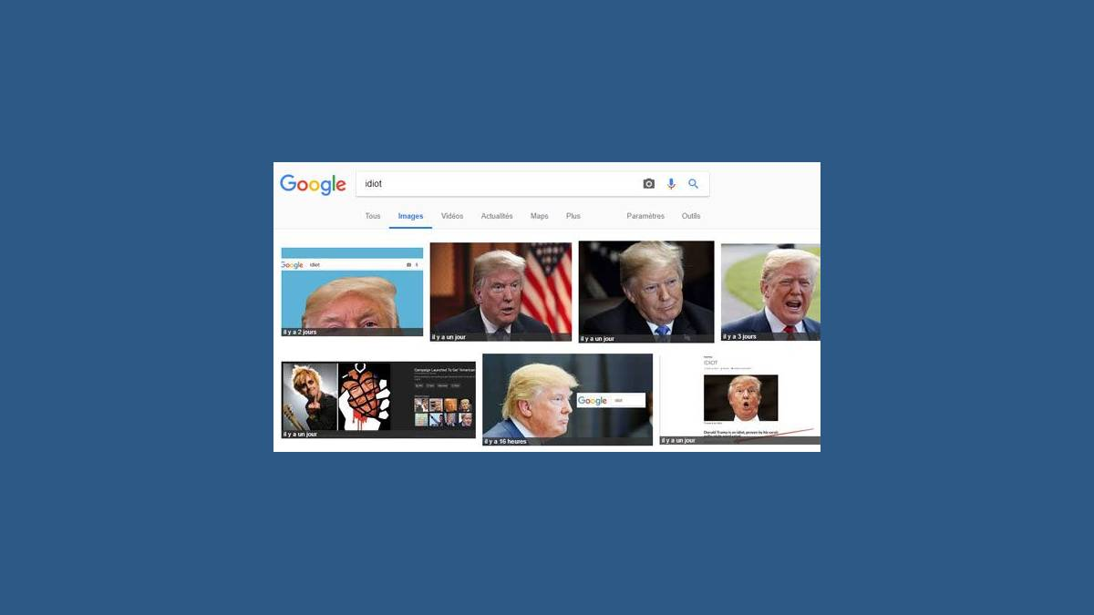 Google Bombing - Idiot Donald Trump