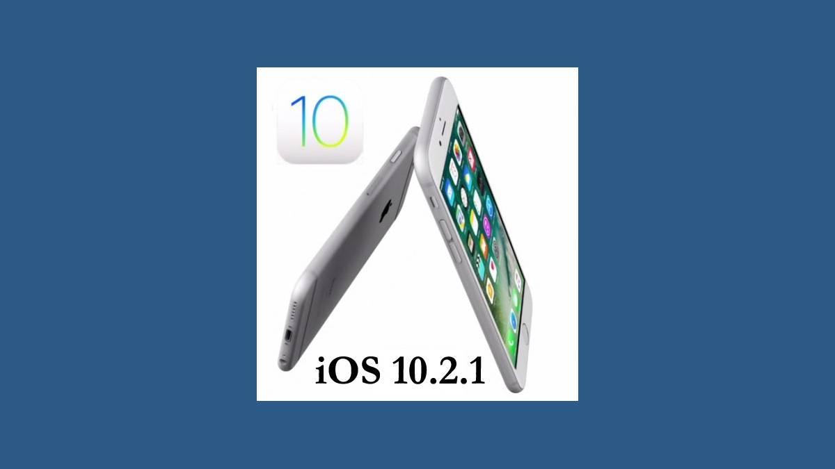 Mise à jour iOS 10.2.1