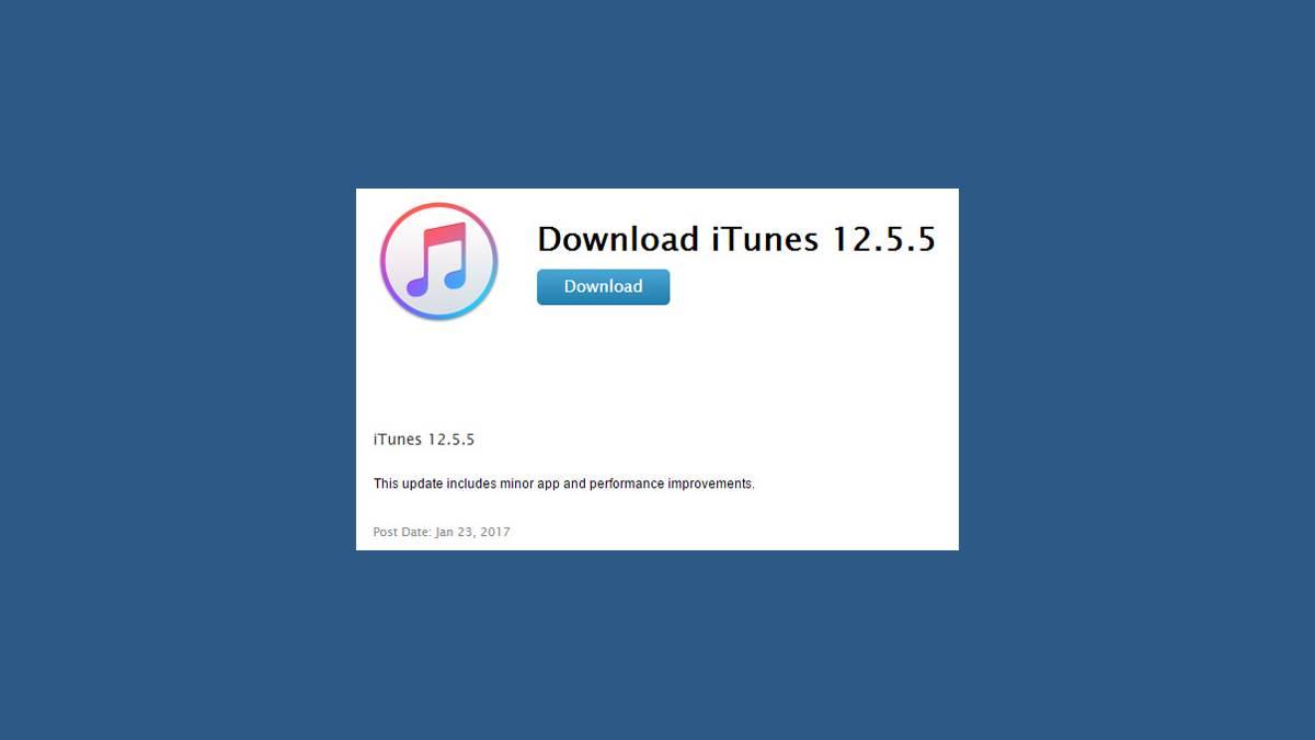 Téléchargement iTunes 12.5.5
