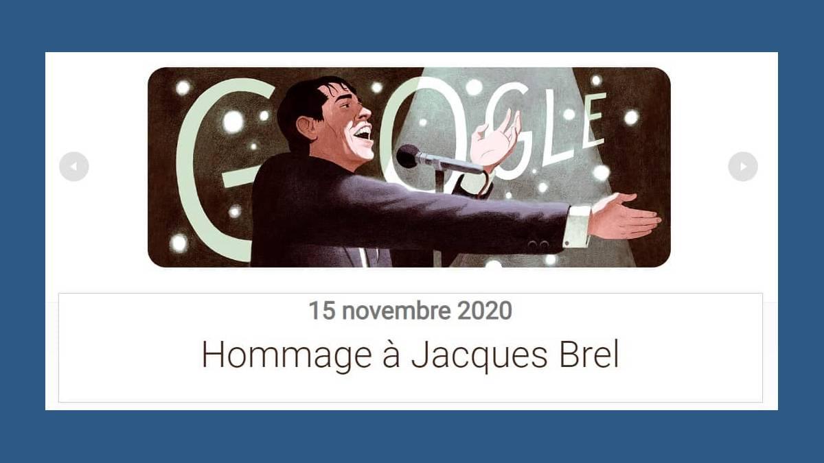 Doodle Jacques Brel sur Google.fr