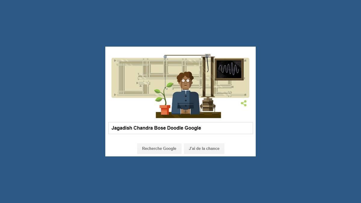 Doodle Jagadish Chandra Bose