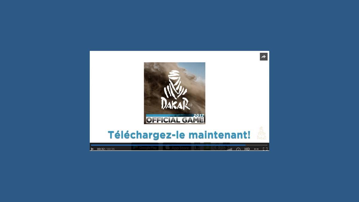 Jeu vidéo mobile Dakar 2017 iOS et Android