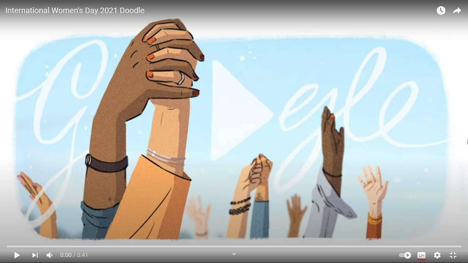 Doodle Google journée internationale des droits des femmes 2021